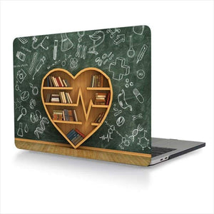 Creative Bookshelf Shell Case for Mac Book Pro - Laptop Cover - Free Shipping