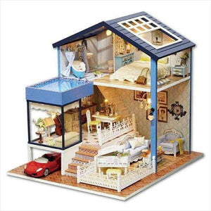 DIY Miniature Wooden Doll House - Dollhouse - Free Shipping