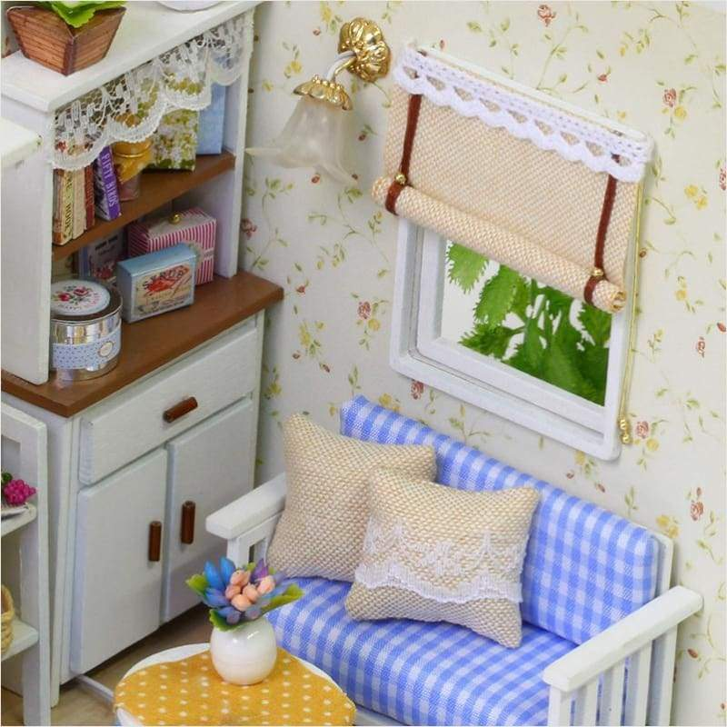 DIY Miniature Wooden Dollhouse [Kitten Diary] - DIY - Free Shipping
