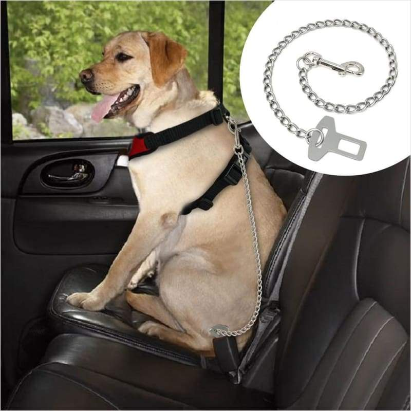 Durable Metal Vehicle Safety Seat Belt For Pets - Pet seat belt - Free Shipping
