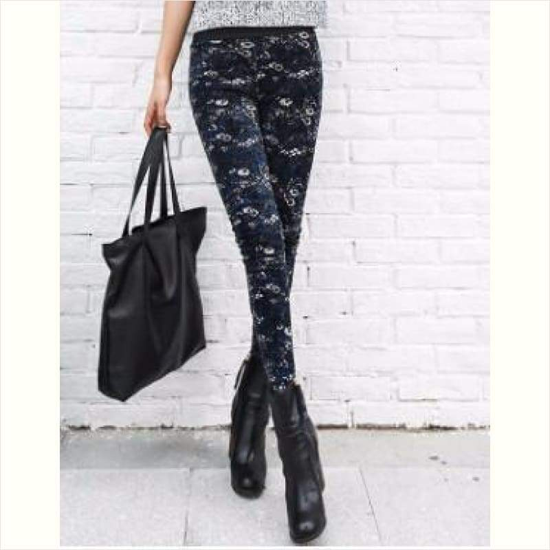 Fleece Lined Warm Women Leggings - Women Christmas Leggings - Free Shipping