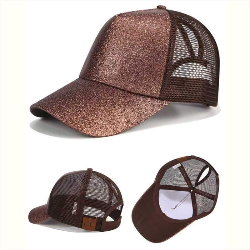 HOT Glitter Ponytail Baseball Cap - Cap - Free Shipping
