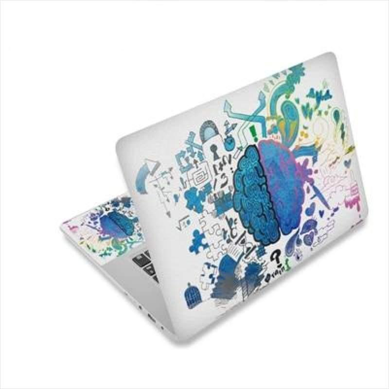 Left Right Brain Colorful Sticker For Macbook - Laptop Cover - Free Shipping