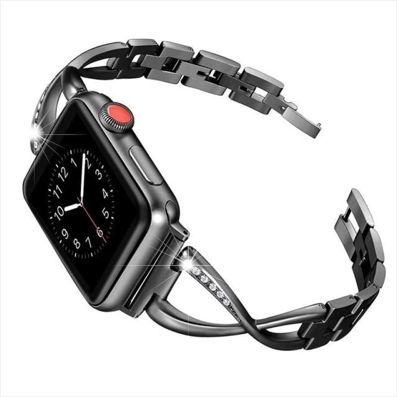 Luxury Diamond Stainless Steel Watch Band for Apple iWatch - Watch Band - Free Shipping
