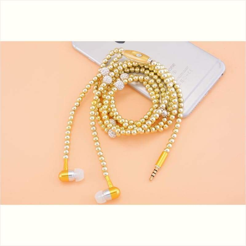 Luxury Pearl Necklace Earphones - Pearl Earphones - Free Shipping