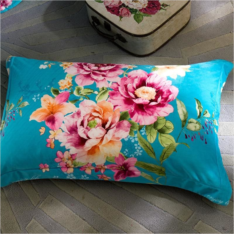 Luxury Winter Fleece Floral Bedding Set - Beddings - Free Shipping