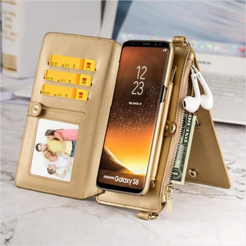 Mini Multi Function Cross Body Wallet Smartphone iPhone XS X MAX Phone Case Bag - Phone Case - Free Shipping