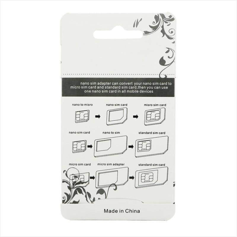 Nano SIM Card Adapter 4 in 1 - SIM Card Adapter - Free Shipping