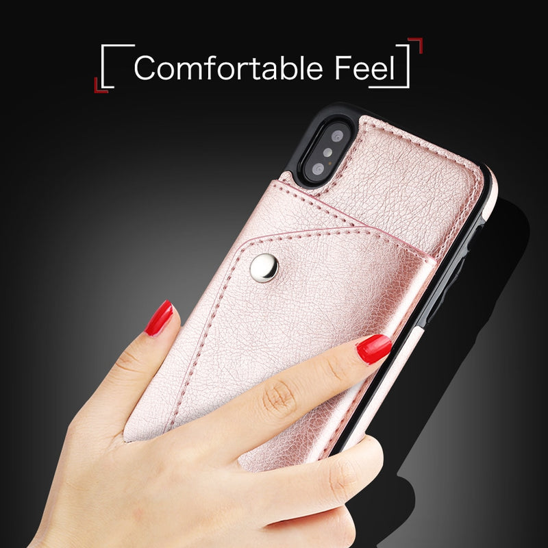 Leather Case For iPhone Wallet - Phone Case - Free Shipping