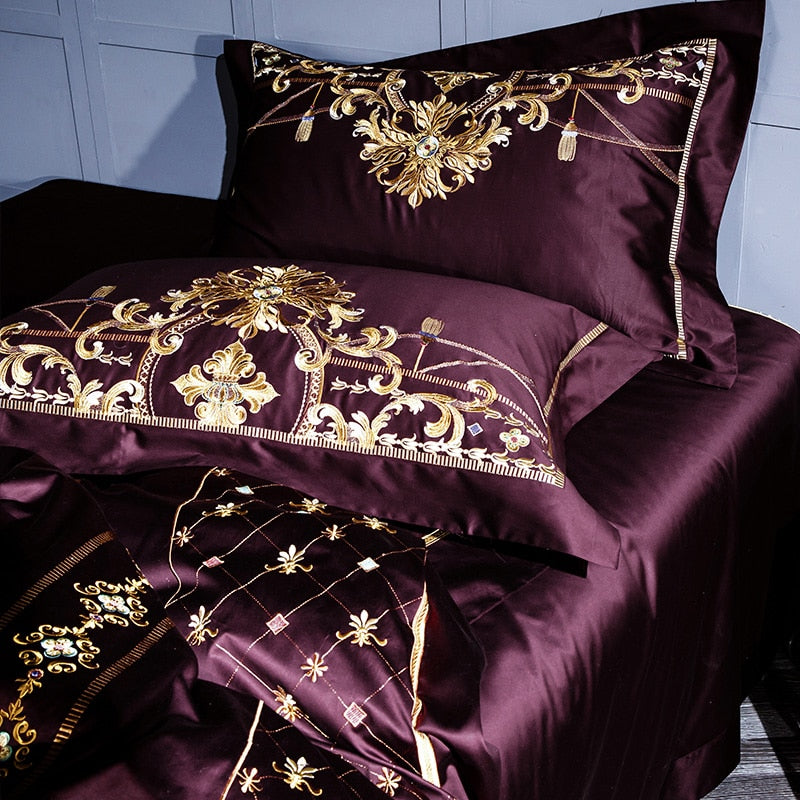Luxury European Style Embroidery Bedding Set - Beddings - Free Shipping