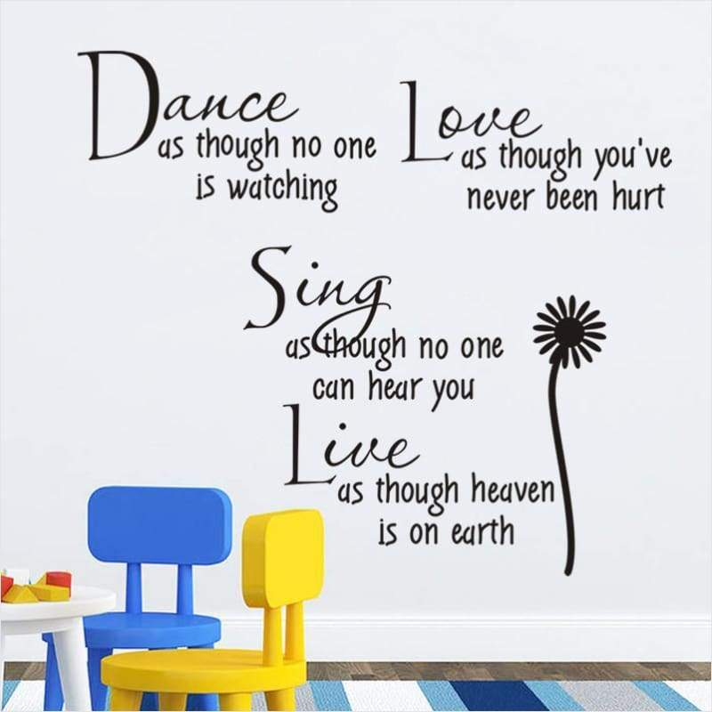 Quote Wall Sticker Art Home Decor - Quote Wall Sticker - Free Shipping