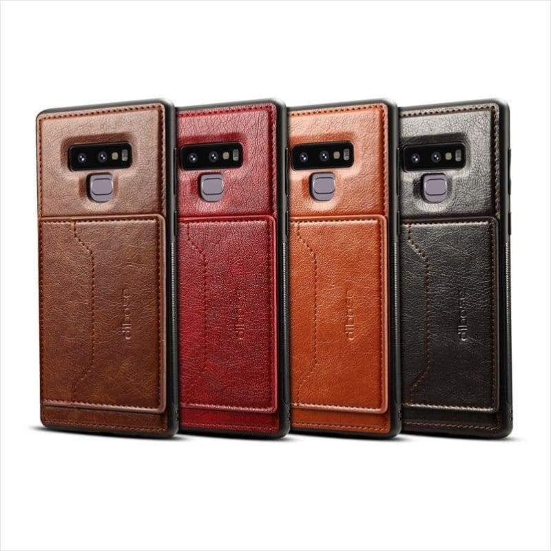 Slick & Cool Leather Phone Case For Samsung Galaxy Note 9 - Phone Case - Free Shipping