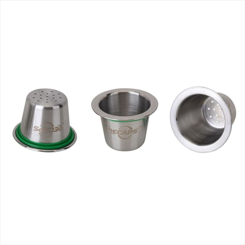 Stainless Steel Refillable Coffee Capsules Reusable Pods for Nespresso Machines (Original Line Compatible) - Free Shipping