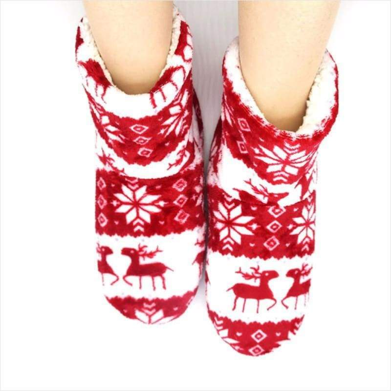 Winter Indoor Slippers Flannel Slippers - Christmas Edition - Winter Slippers - Free Shipping