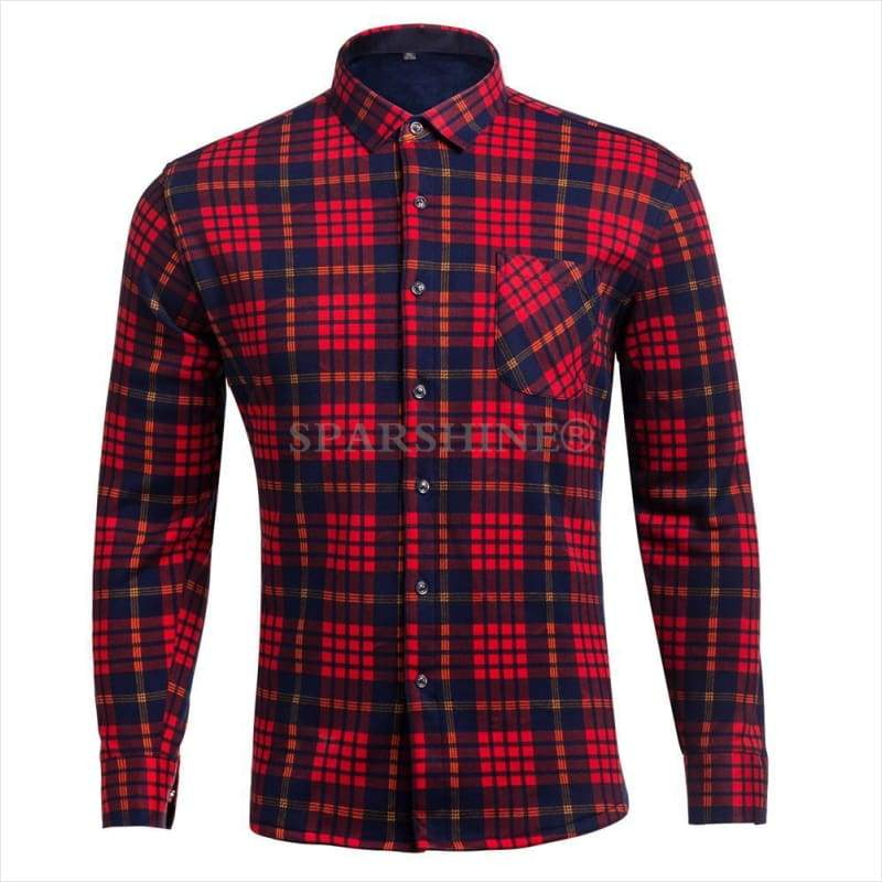 Winter Thick Fleece Shirt for Men - men shirt - Free Shipping
