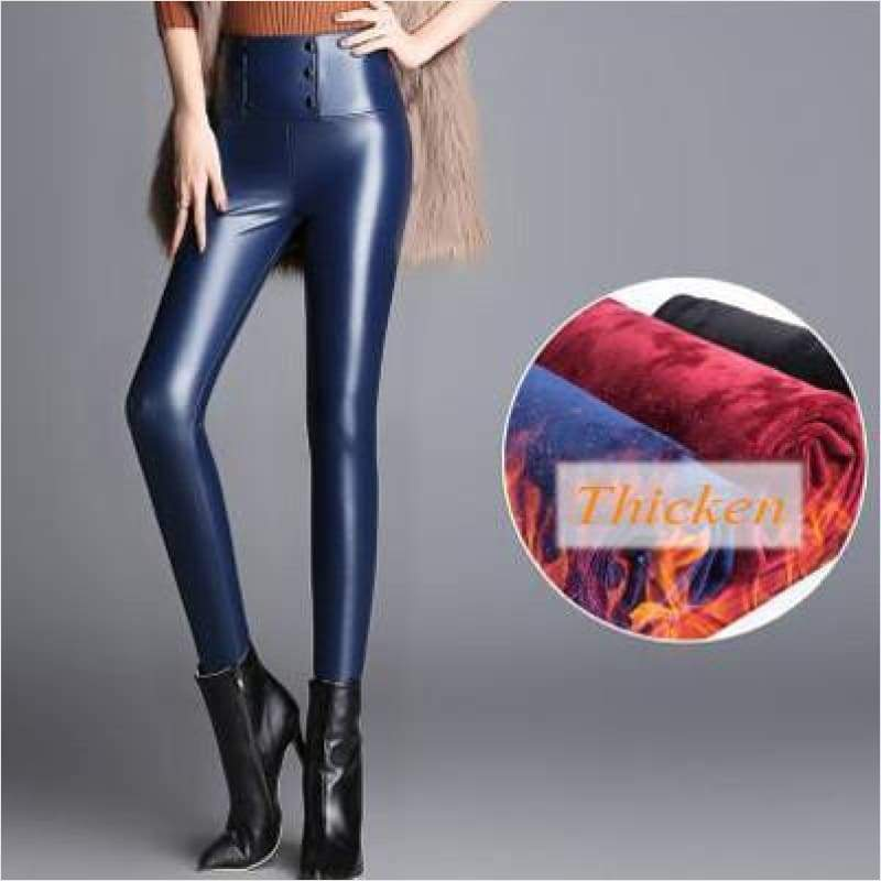 Women High Waist Pencil Elastic Fleece Leggings - Winter Women Leggings - Free Shipping