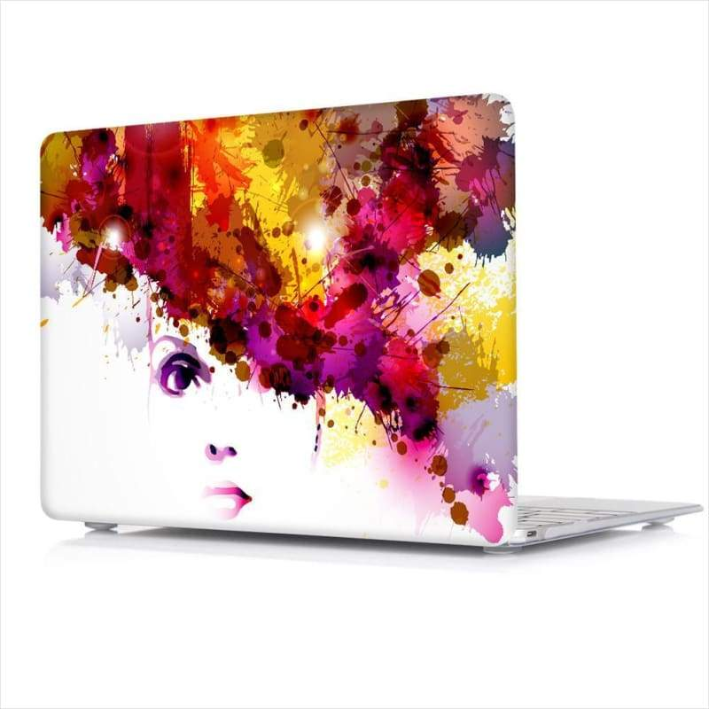 Women Stylish Pattern Transparent Crystal Macbook Pro Cover - Maximbazar