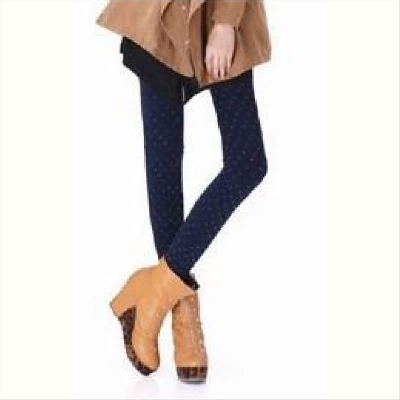 Womens Winter High Elasticity Tick Leggings - Maximbazar