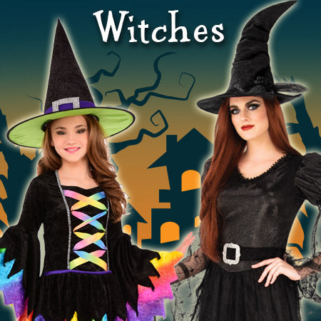 Witches Costumes and Accessories