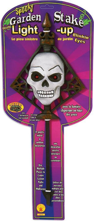 Buy Skull Light Up Garden Stake from Costume World