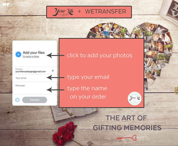 upload pictures wetransfer