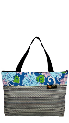 Maui Nui Wear Eco-Friendly Large Mesh Tote Bag Floral Polu