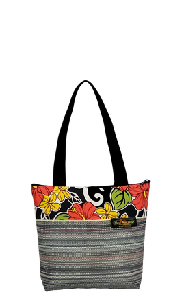 Maui Nui Wear Eco-Friendly Medium Mesh Tote Bag Floral `Ele`ele