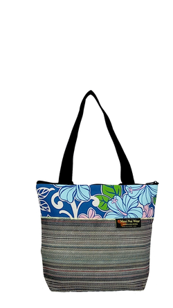 Maui Nui Wear Eco-Friendly Medium Mesh Tote Bag Floral Polu