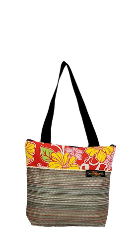 Maui Nui Wear Eco-Friendly Medium Mesh Tote Bag Floral `Ula`ula