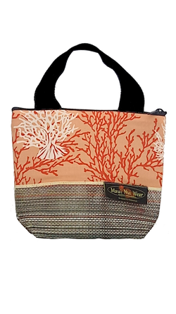 Maui Nui Wear Eco-Friendly Small Mesh Tote Bag Coral Ke Kola