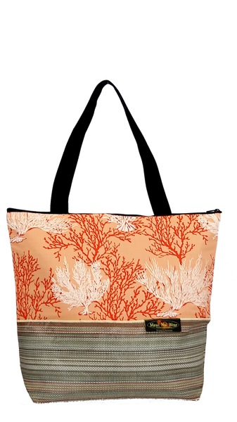 Maui Nui Wear Eco-Friendly XL Mesh Tote Bag Coral Ke Kola