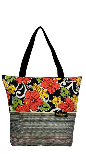 Maui Nui Wear Eco-Friendly XL Mesh Tote Bag Floral `Ele`ele