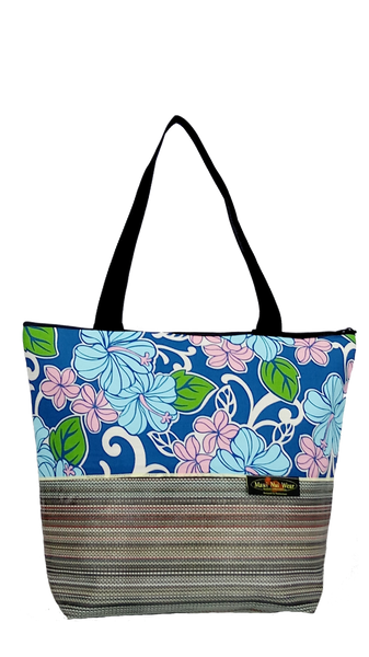 Maui Nui Wear Eco-Friendly XL Mesh Tote Bag Floral Polu