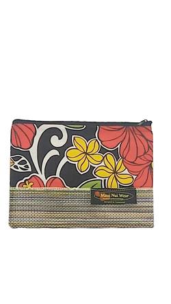 Maui Nui Wear Eco-Friendly Mesh Pouch Floral `Ele`ele