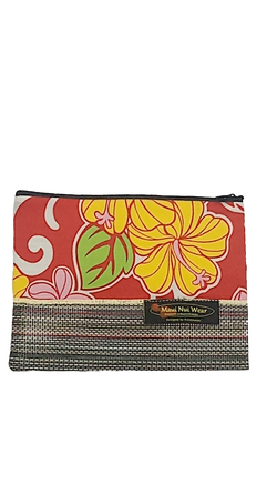 Maui Nui Wear Eco-Friendly Mesh Pouch Floral `Ula`ula