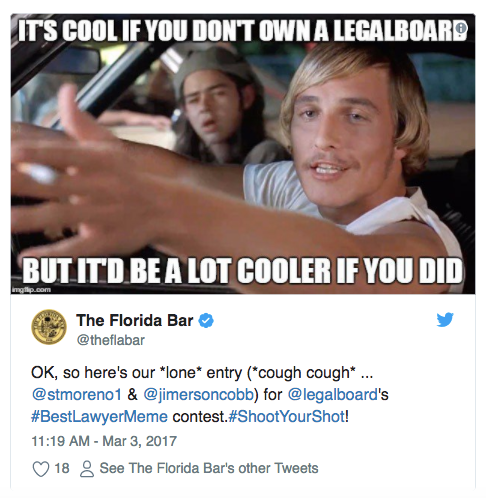 It's cool if you don't own a LegalBoard, but it'd be a lot cooler if you did...