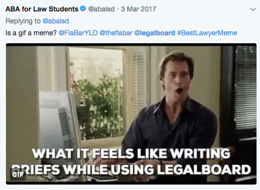 What it feels like writing briefs while using LegalBoard...