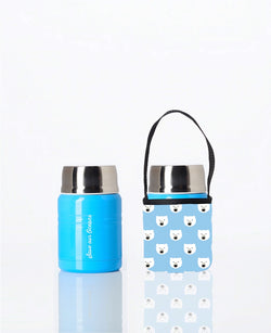 * Daily Deal - Foodie - insulated lunch container + carry cover - stainless steel - 500 ml - Polar print