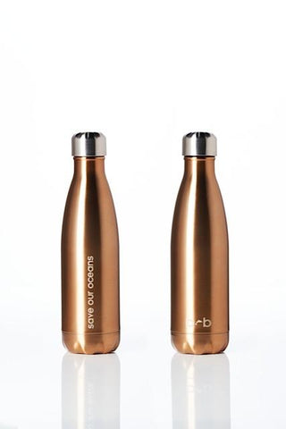 Future Bottle - Gold -  Stainless Steel - Insulated - 500 ml