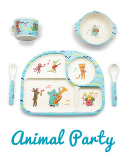 Bambu - 5 piece mealtime set - Animal Party