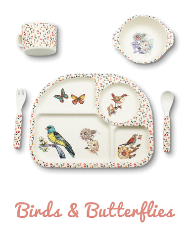 Bambu - 5 piece mealtime set - Birds & Butterflies