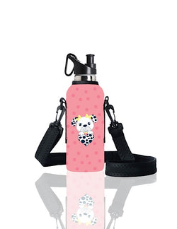 TRVLR by BBBYO carry cover for sippy bottle - with shoulder strap - 500 ml - Dalmation print