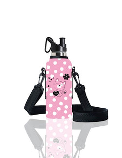 TRVLR by BBBYO carry cover for sippy bottle - with shoulder strap - 500 ml - Miaow print