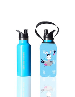 Sippy BBBYO Kids Traveller + carry cover - stainless steel - insulated -  500 ml - Bunny print