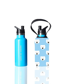 Sippy BBBYO Kids Traveller + carry cover - stainless steel - insulated -  500 ml - Polar print