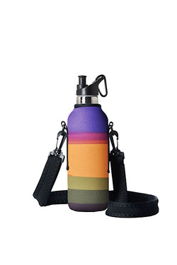 TRVLR by BBBYO carry cover for sippy bottle - with shoulder strap - 500 ml - Basslet print