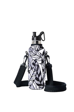 TRVLR by BBBYO carry cover for sippy bottle - with shoulder strap - 500 ml - Feather print