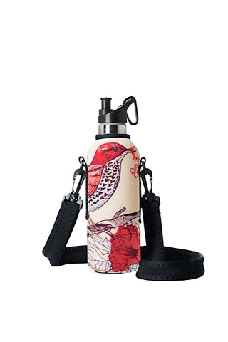 TRVLR by BBBYO carry cover for sippy bottle - with shoulder strap - 500 ml - Bird print
