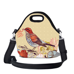Lunchtime Bag by BBBYO - with shoulder strap - Bird print