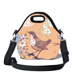 Lunchtime Bag by BBBYO - with shoulder strap - Sparrow print